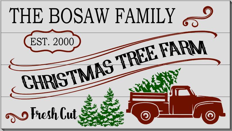 Personalized Christmas Tree Farm