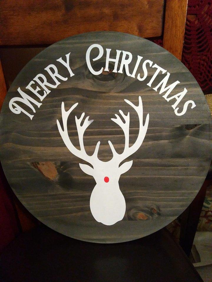 Round Merry Christmas