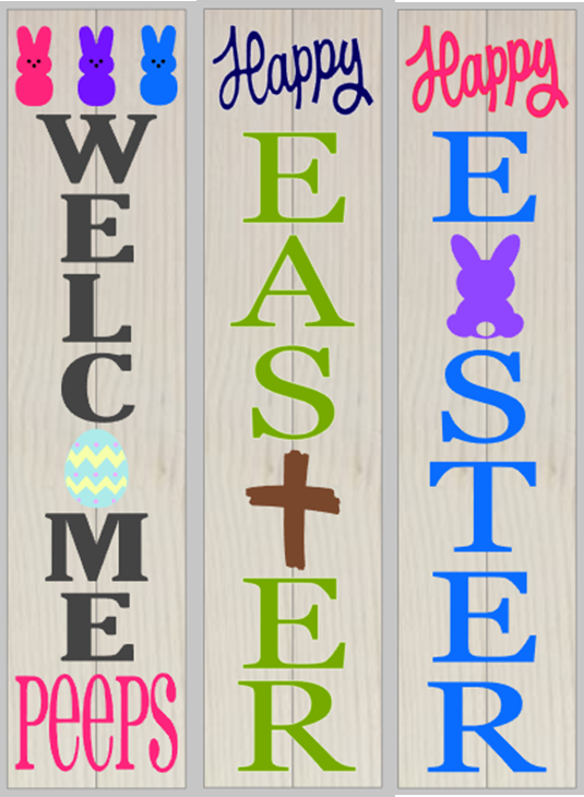 Easter Porch Welcome Sign