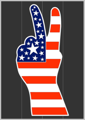 Flag Peace Sign