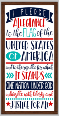 Pledge of Allegiance Framed