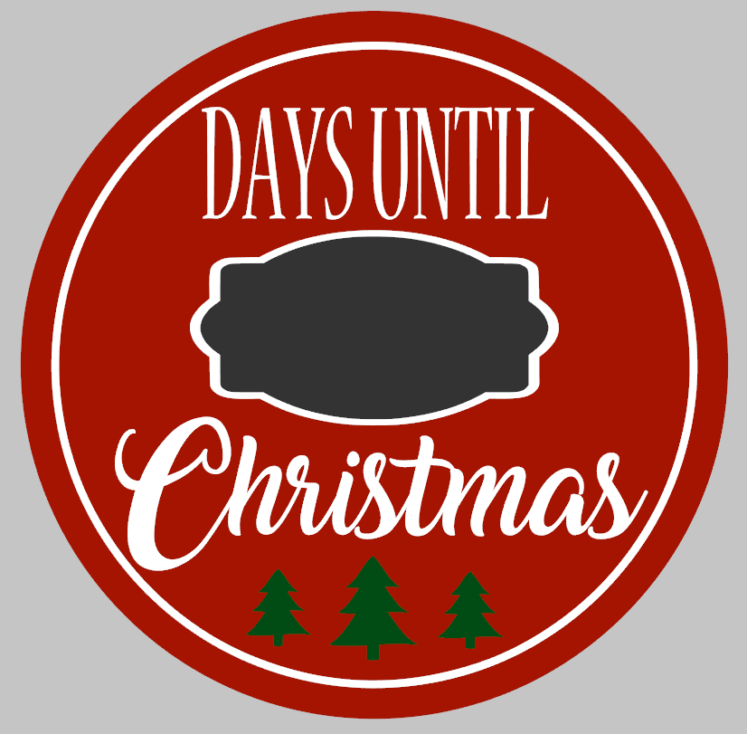 Round Days til Christmas Countdown
