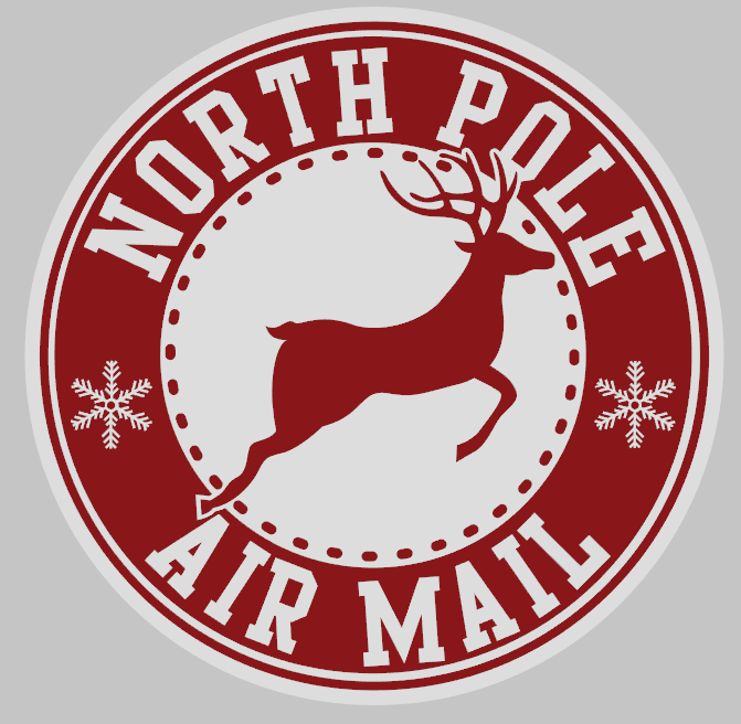 Round Northpole Air Mail