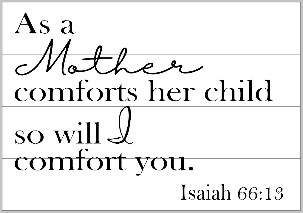 Isaiah 66:13