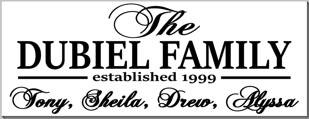 Family Sign with Names
