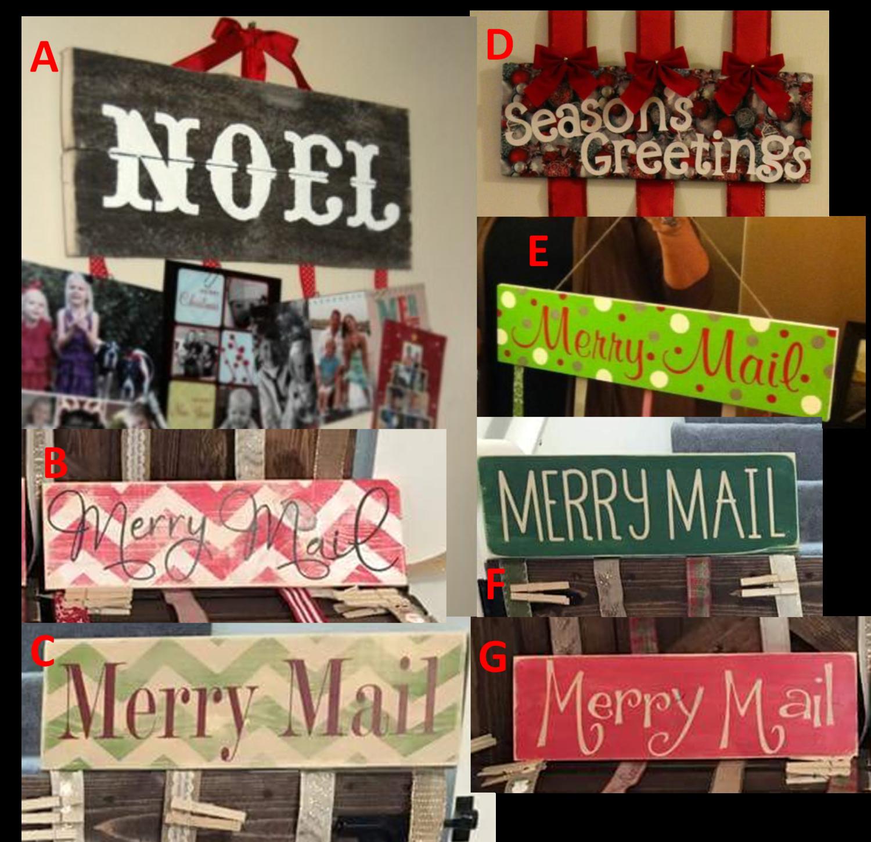 Christmas Mail Holder