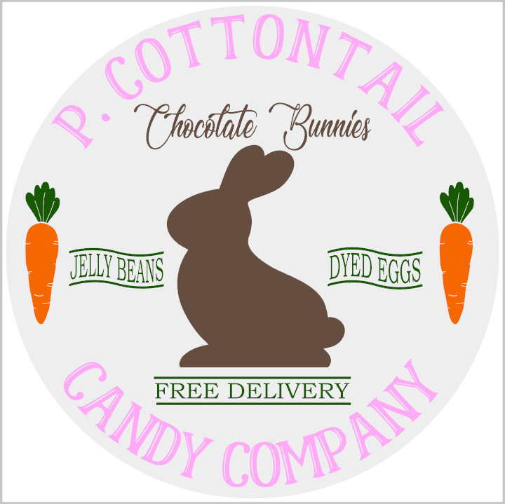 P. Cotton Tail Candy Co. Round
