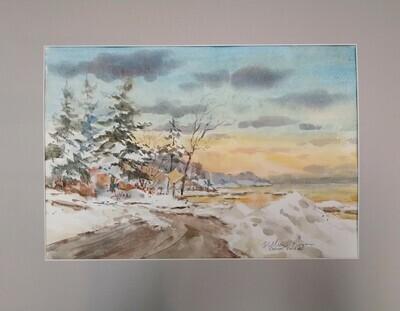 Mahoney's Beach in Winter