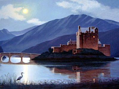 """""""Faire na h'Oidhche – Eilean Donan"""" (Night Watch – Island of Donan)"""
