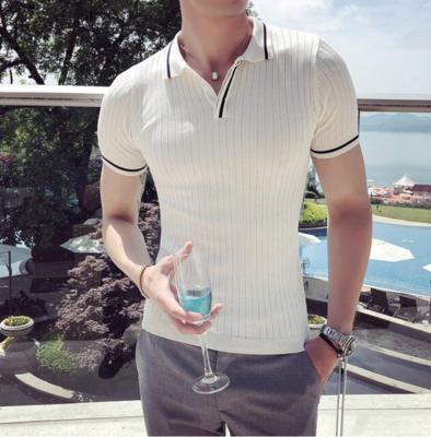 Camisa Polo Estilo Británico Slim Fit Hombre Korean Style
