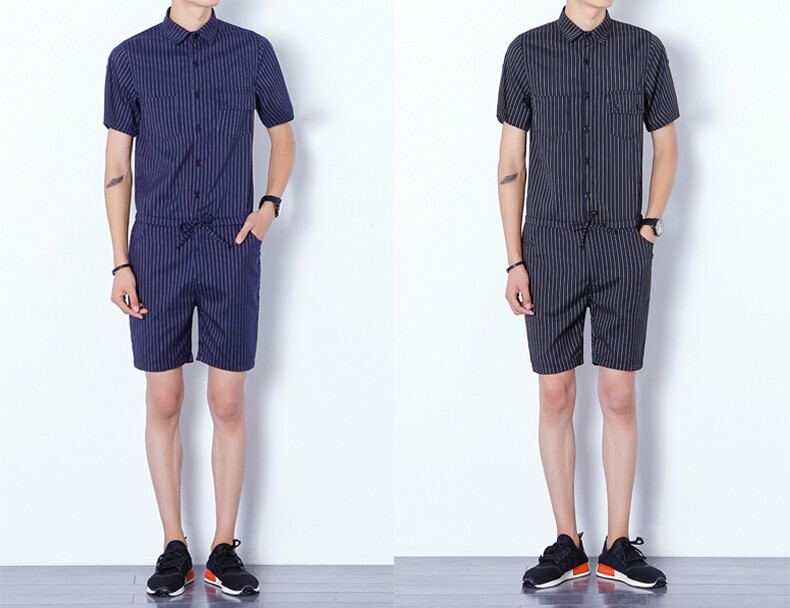 Overol Jumpsuit Hombres Korean Style