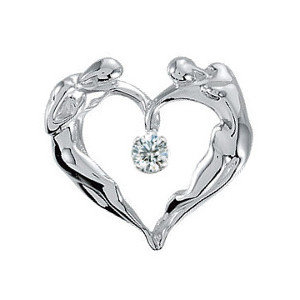 Sterling Silver Heart CZ Necklace