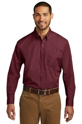 Men's Port Authority Long Sleeve Poplin Shirt