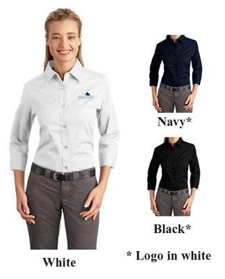 Port Authority Ladies 3/4 Sleeve Easy Care Shirt