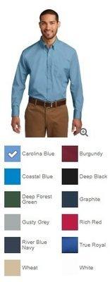 Men's Port Authority Long Sleeve Poplin Shirt