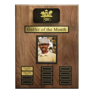 Golfer of the Month Plaque