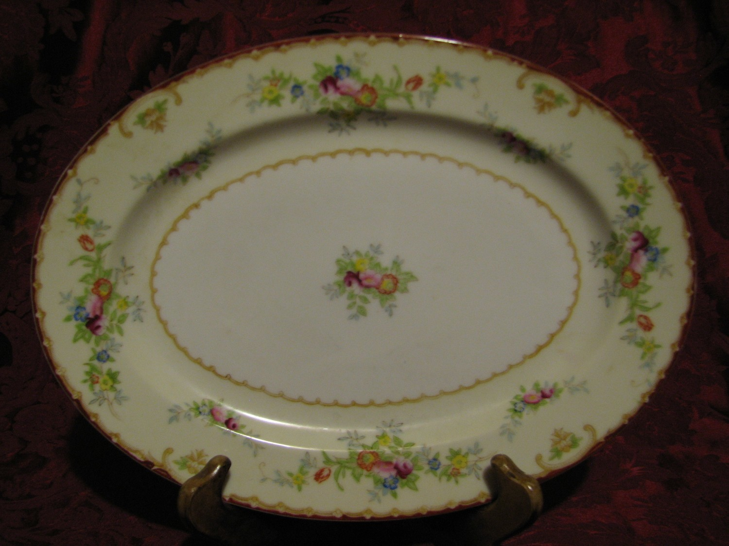 "STS of Japan Vintage 12"" Serving Platter, Made by, Hand Painted"