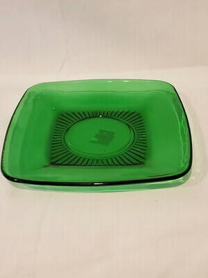Anchor Hocking Charm Forest Green Saucer