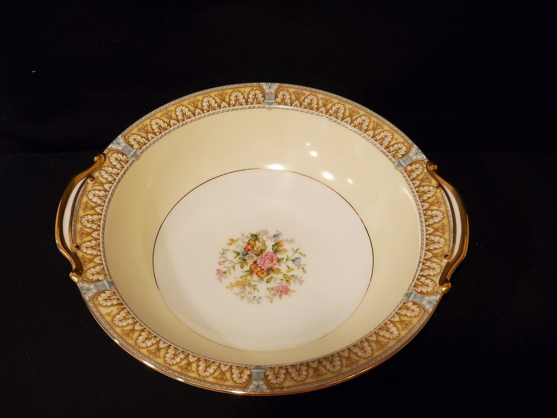 "Noritake, Round Vegetable Bowl 10 1/2"", Claire Pattern, Porcelain"