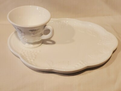 Plate & Punch/Snack Cup Set 2 PIECE set By Colony