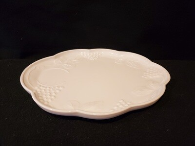 Snack Plate, Harvest Milk Glass By Colony