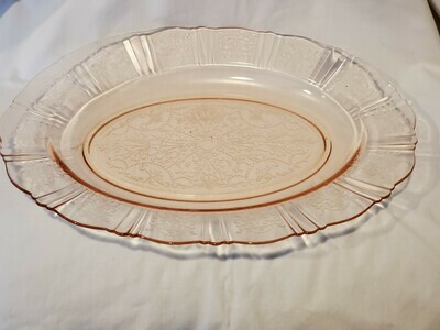 MacBeth-Evans, Oval Platter, American Sweetheart-Pink Depression Glass, 13