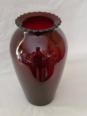 Anchor Hocking, Flower Vase, Royal Ruby Red 9