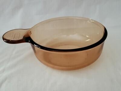 Corning Ware VISIONs, Grab it Bowl, V150-A, Amber