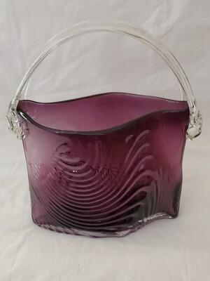 Design Society, Glass Purse, Amethyst 10.25