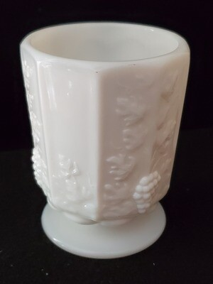 Mini Open Sugar, Paneled Grape Milk Glass by Westmoreland