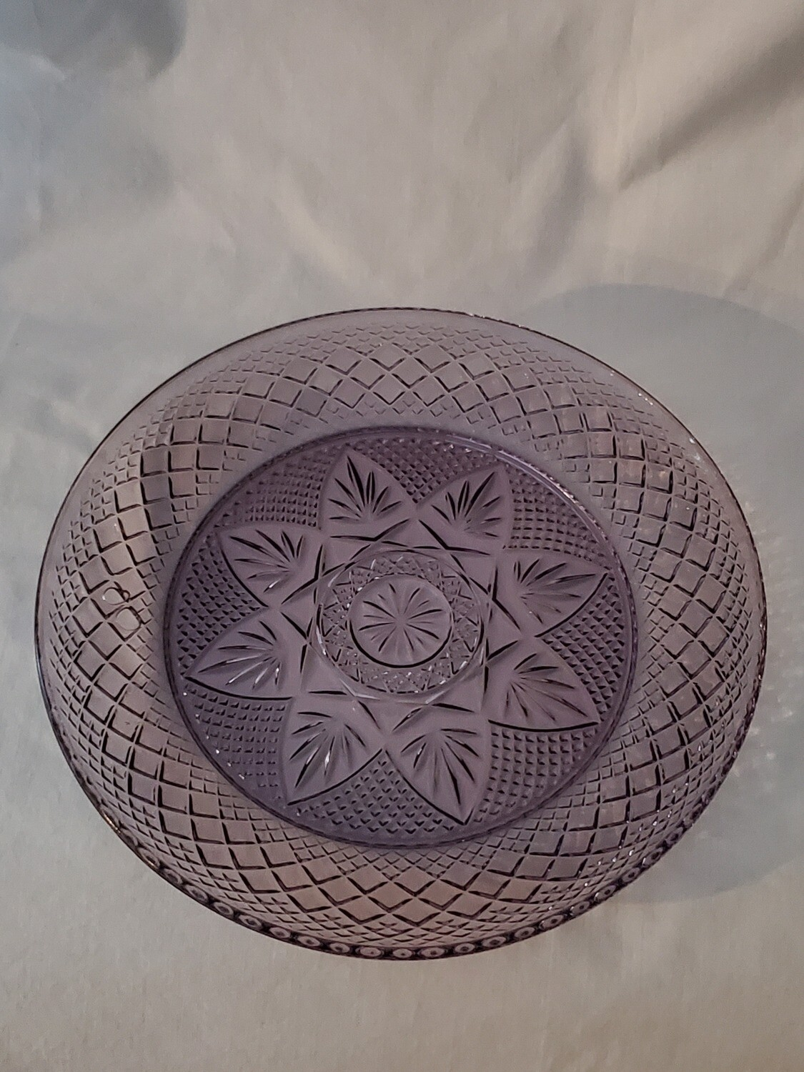 """Antique Amethyst Luncheon Plate, 8"""" by Cristal D'Arques-Durand"""