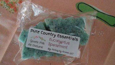 Pure Country Essentials Soap, Goats Milk, Eucalyptus Spearmint Scent (2Pk), Tree Shape