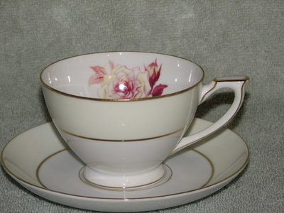 Mikado Footed Coffee Cup and Saucer, Prima Donna