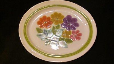Franciscan Earthenware, Floral Pattern, Oval Serving Platter 13.5