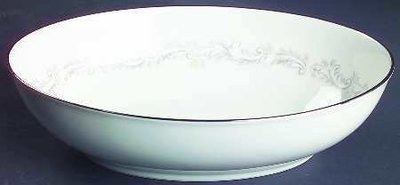 Noritake Ivory China, Oval Vegetable Bowl, Marquis 7540