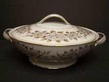 Noritake China, Round Sugar Bowl W/Cover, Pattern 5318, Glenbrook