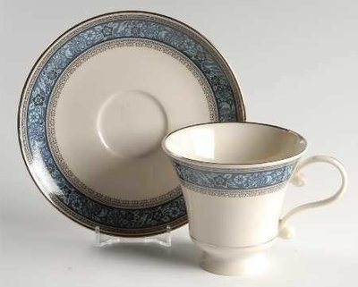 Pickard China, Footed Cup & Saucer, Overture Pattern