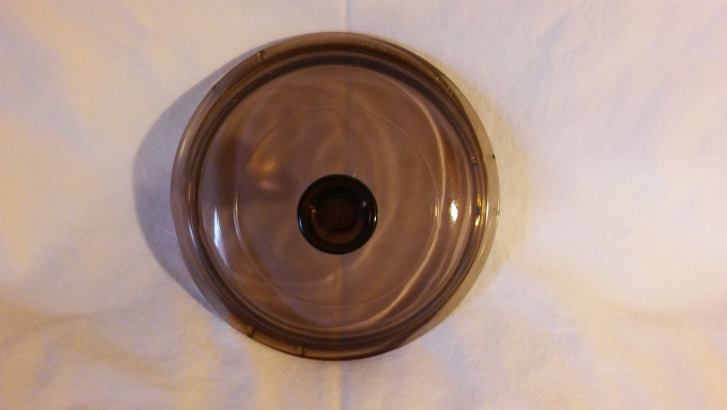 """Corning Ware Visions (Pyrex) 5 3/4""""Lid for 1 Quart Round Casserole, V-1-C, Amber"""