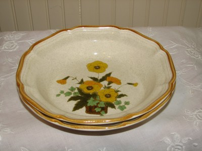 Mikasa Garden Club Rimmed Soup Bowl, Sunshine EC458