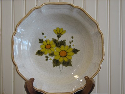 Mikasa Rimmed Soup Bowl, # EB 802 Sunny Side Pattern