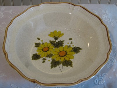 Mikasa Vegetable Serving Bowl, # EB 802 Sunny Side Pattern