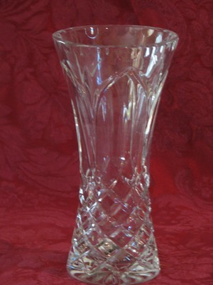 Handcut Polish Crystal Vase, 24% Leaded 7.75
