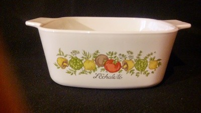Corning, Square Casserole 1.5 Qt (NO COVER), Spice of Life Pattern
