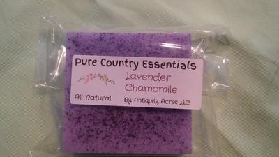 Pure Country Essentials Soap, Lavender & Chamomile Fragrance, Square
