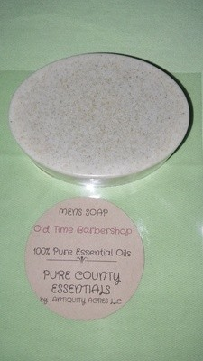 Pure Country Essentials Soap, Men's Soap, Oatmeal, Old Time Barbershop Fragrance,  Oval