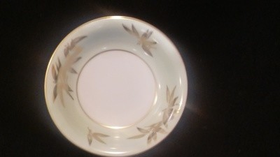 Noritake China Fruit, Dessert, Sauce Bowl, Pattern #5271, Gold Bamboo Leaves