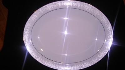 Noritake China, Fidelity Pattern #8003W81, Oval Serving Platter 13 3/4