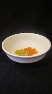 Franciscan Earthenware, Floral Pattern, Fruit, Dessert, Sauce Bowl 5 1/4