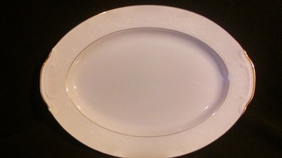 Style House Fine China, Oval Serving Platter 12 1/4