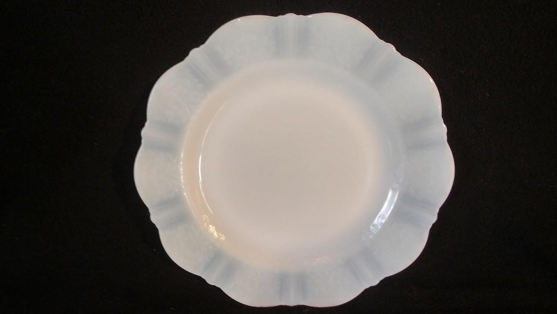 "MacBeth-Evans, Luncheon Plate 9"", American Sweetheart-Monax White, Depression Glass"